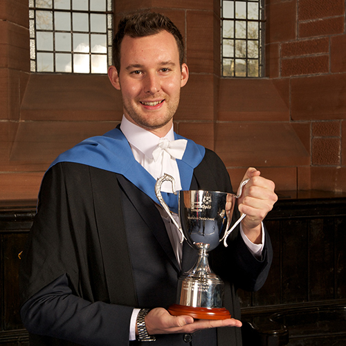 Craig Taylor, winner of the 2014 Strathclyde People Award