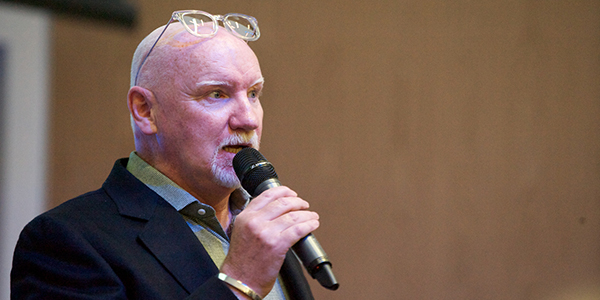 Sir Tom Hunter speaking at New Enlightenment Lecture