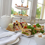 Afternoon Tea – assortment of finger sandwiches with tea, coffee, scones and selection of cakes