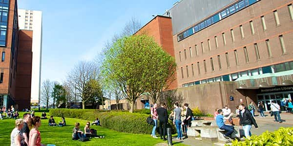 People outside the University of Strathclyde Library