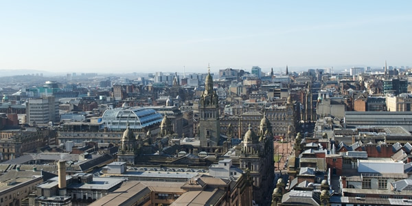 Glasgow city rooftops