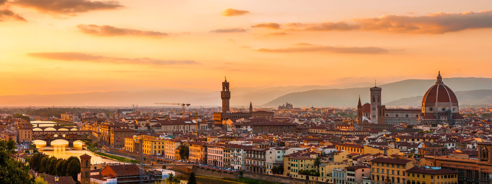 skyline view of Florence, Italy.