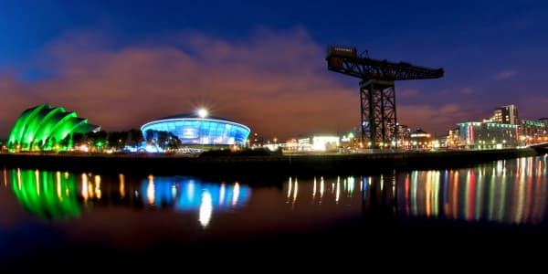 River Clyde at night, Glasgow