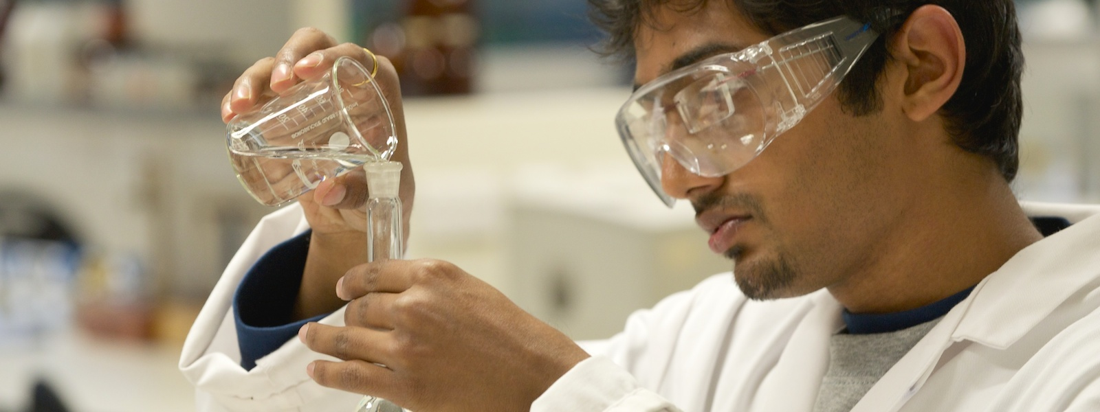 Student in a SIPBS laboratory