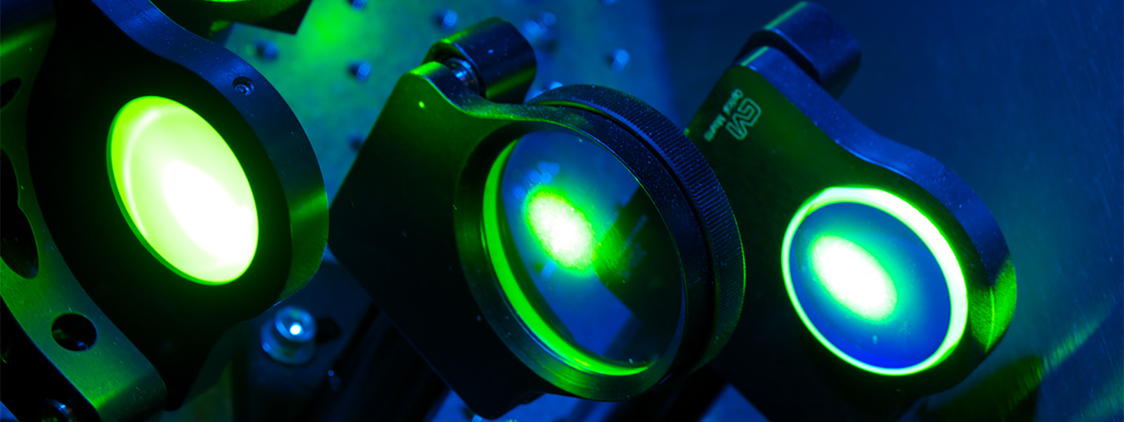 Lasers in a physics laboratory