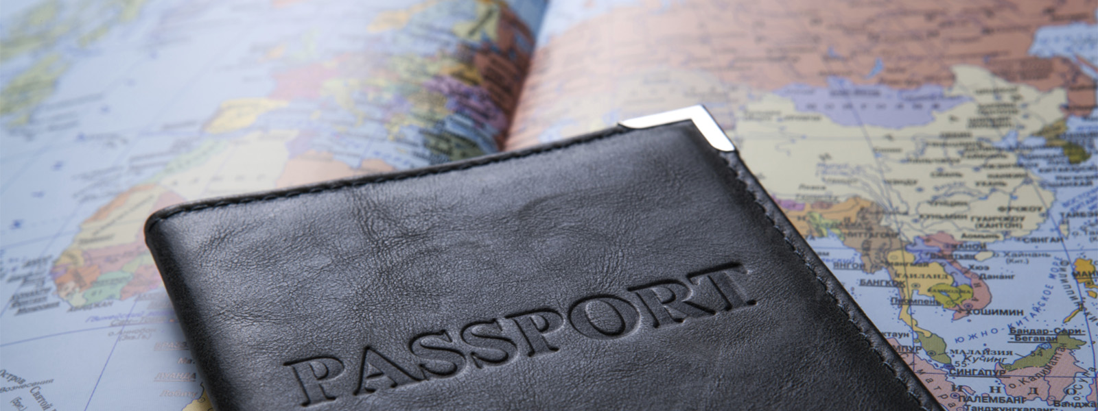 World map & passport