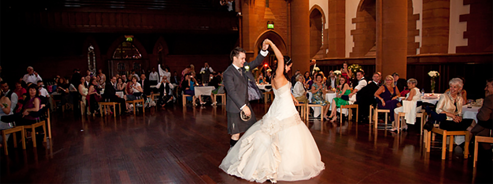 Wedding reception at Barony Hall. Photo courtesy of Team Thomson Photography
