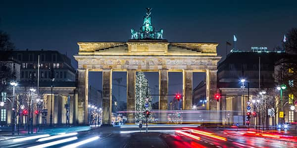 Brandenburg Gate, Berlin, by night