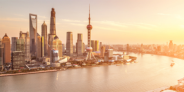 Shanghai skyline and Huangpu River, China