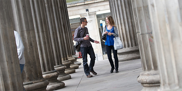 Students shopping in Glasgow