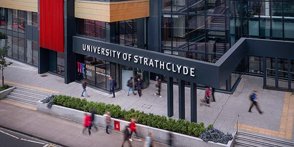 Exterior of Strathclyde Business School.