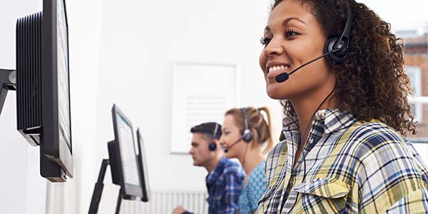 Customer services agents in a call centre