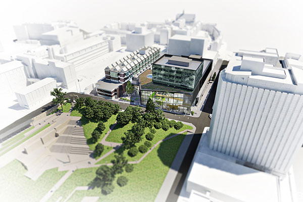 Artist's impression of Learning & Teaching Building, Strathclyde campus