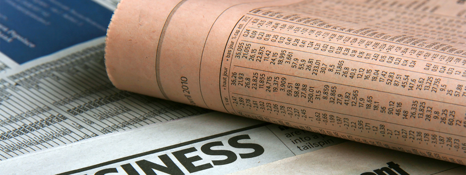 Finance newspapers