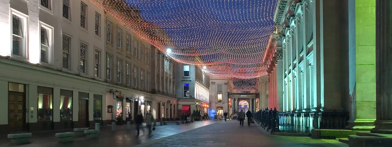 Royal Exchange Square at night