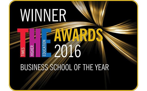 Times Higher Education Business School of the Year logo