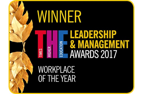 Timer Higher Education Leadership and Management Award Workplace of the Year 2017 logo