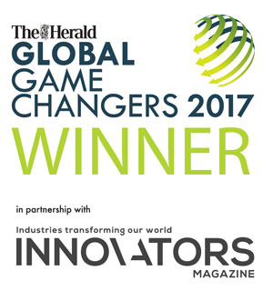 The Herald Global Game Changers 2017 Winner logo, in partnership with industries transforming our world innovators magazine