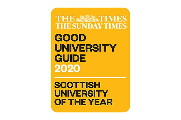 The Times & Sunday Times Good University Guide 2020 - Scottish University of the Year.