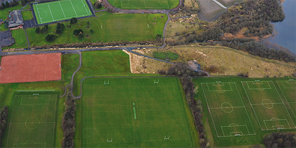 Aerial View of Stepps Playing Fields.
