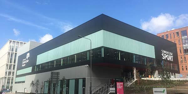 Exterior of Strathclyde Sport as it prepares to open.