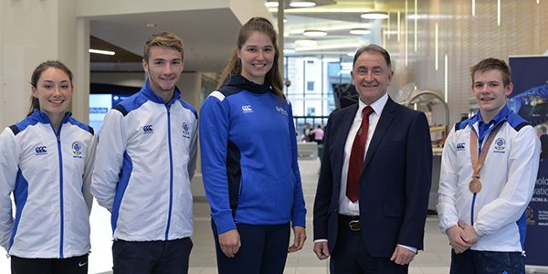 Commonwealth Games Athletes with Professor Sir Jim McDonald
