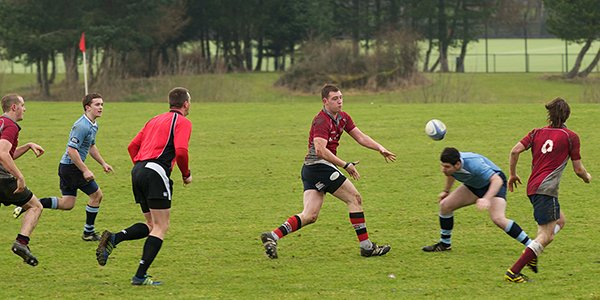 Mens rugby teams play at Stepps Playing Fields