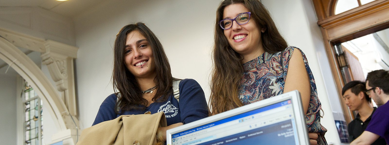 Students register at Strathclyde at the start of term.