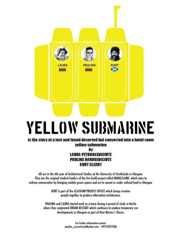 yellow submarine A4 poster