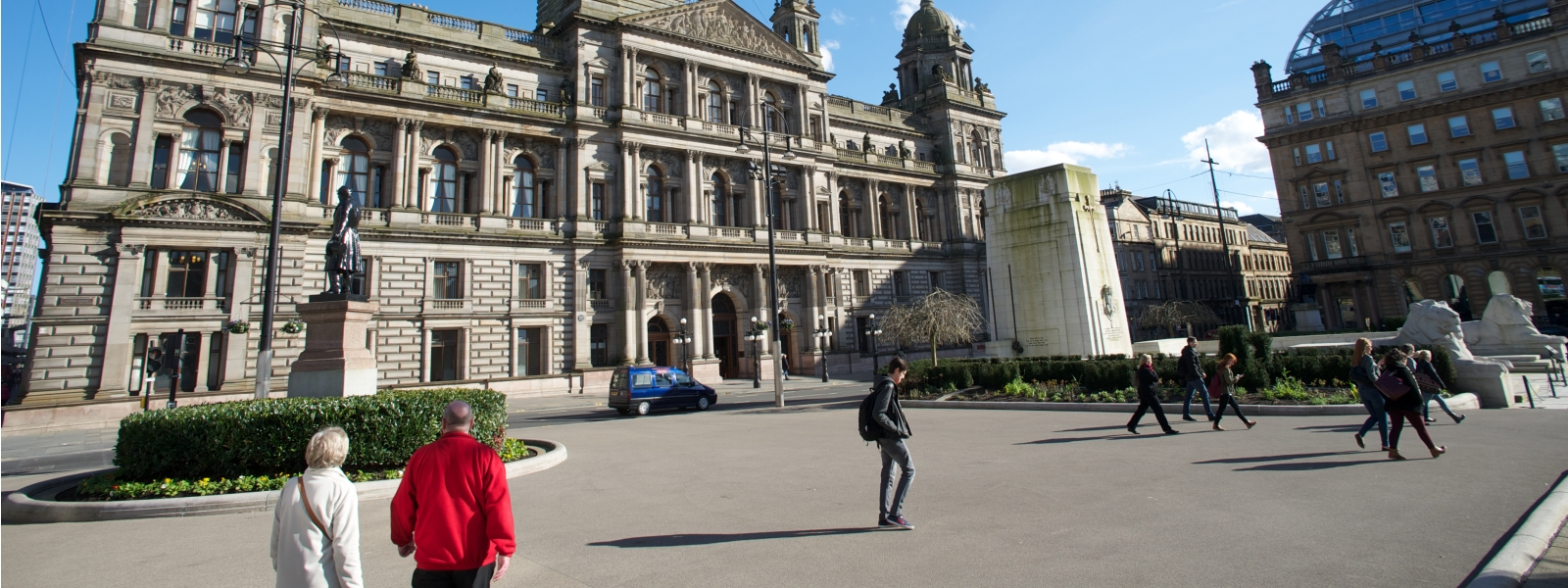 George Square And Glasgow City Chambers 1600x600