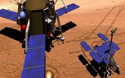 Image of lander and rover