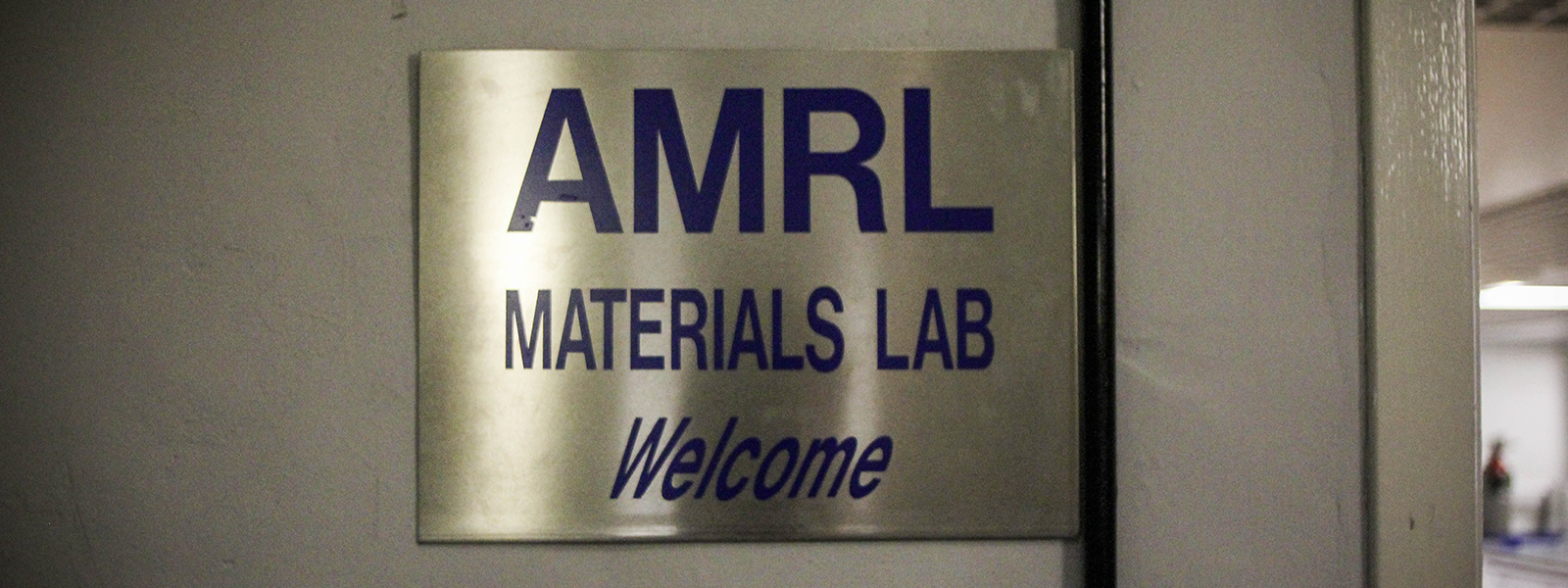 a photo of our sign which hangs outside the door at the AMRL
