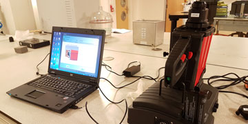 The Fourier-Transform Infrared Spectrometer equipment from our lab is shown