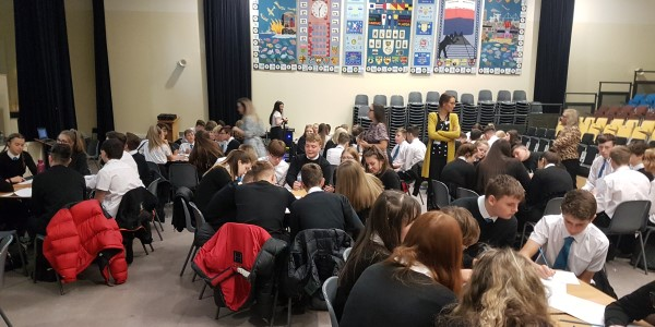 students from a visit during Maths Week Scotland 2019