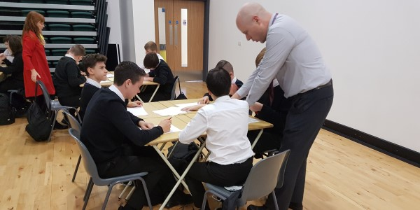 Clydeview Academy pupils from Maths Week Scotland 2019