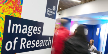 This picture shows the Images of Research pop up banner positioned in TIC
