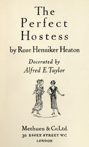 The Perfect Hostess by Maureen Daly