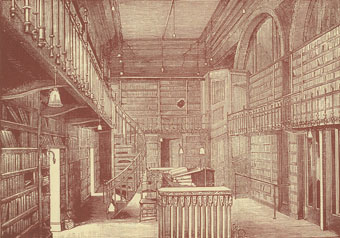 Library interior of the Glasgow Athenæum