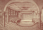 Concert and lecture hall at the Glasgow Athenæum.
