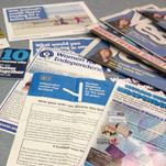 Selection of leaflets canvassed for the Scottish Independence Referendum campaign 2014