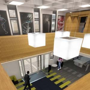 Inside the renovated Wolfson Building