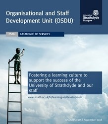 Front cover of OSDU brochure of services