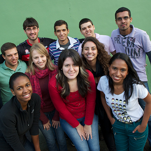 Group of Brazillian students