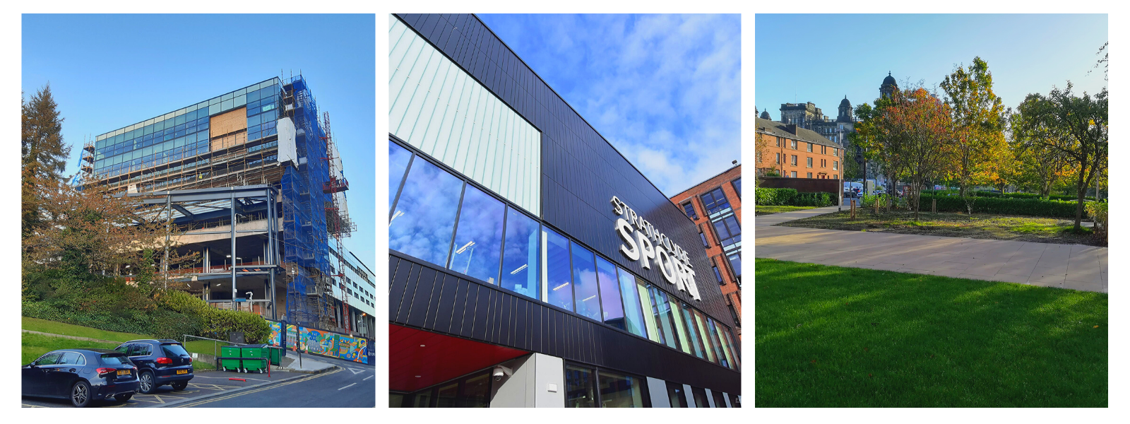 Learning and Teaching Building, Strathclyde Sport, Thrive Gardens